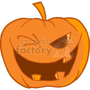 3102-Halloween-Pumpkin-Winking clipart. Commercial use image # 380691