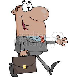 3266-African-American-Businessman-Walking clipart. Royalty-free image # 380706