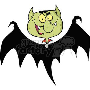 cartoon vector occassions funny Halloween October scary bat bats vampire vampires Count Dracula
