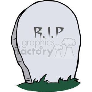 RIP Tombstone clipart. Commercial use image # 380766