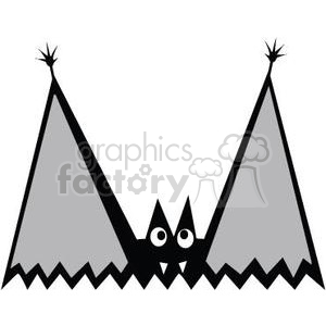 happy Halloween bat clipart. Commercial use image # 380816
