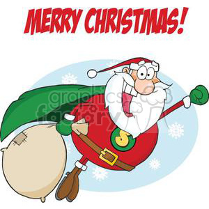 Super Santa Claus Flying clipart. Royalty-free image # 380862