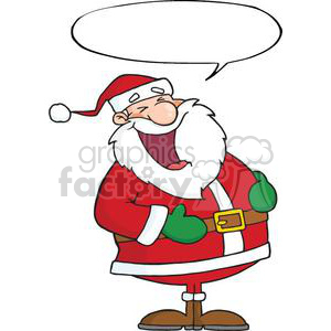 3425-Laughing-Santa-Claus-With-Speech-Bubble clipart. Commercial use image # 380892
