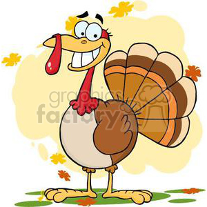 3504-Turkey-Mascot-Cartoon-Character clipart. Royalty-free image # 380907