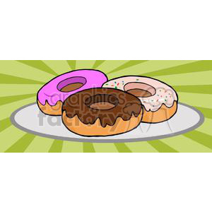 3492-Donuts clipart. Royalty-free image # 380962