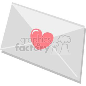 envelope with heart stamp clipart. Royalty-free image # 381047
