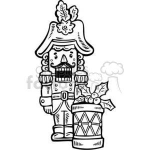 Christmas nut cracker clipart. Royalty-free image # 381051