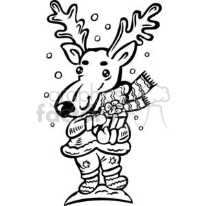 Christmas reindeer clipart. Commercial use image # 381056