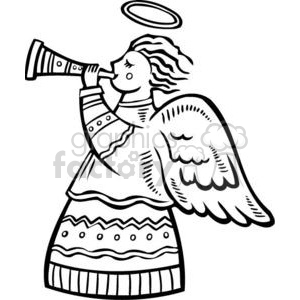 Christmas angels clipart. Royalty-free image # 381086