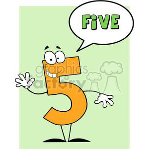 Funny-Number-Guy-Five-With-Speech-Bubble