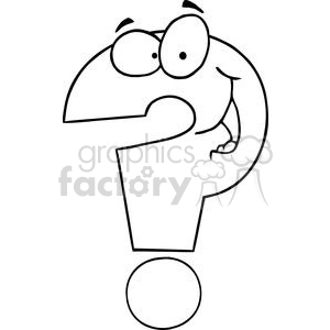 Question-Mark-Cartoon-Character clipart. Commercial use image # 381218