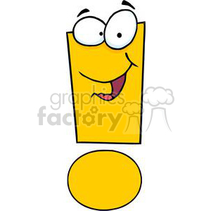 3630-Exclamation-Mark-Cartoon-Character clipart. Royalty-free image # 381253