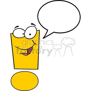 3631-Exclamation-Mark-Cartoon-Character clipart. Royalty-free image # 381273