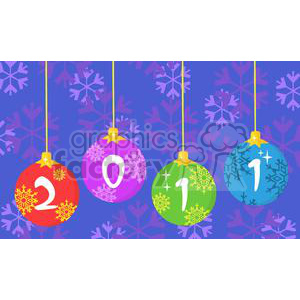 3848-2011-Year-Christmas-Balls clipart. Royalty-free image # 381283