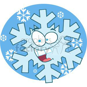 3779-Cartoon-Snowflake clipart. Royalty-free image # 381323