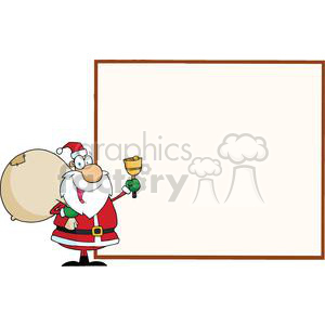 Jolly-Santa-Presenting-A-Blank-Sign-Board clipart. Royalty-free image # 381343
