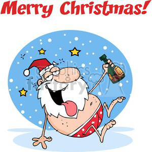 3806-Drunk-Santa-Clause clipart. Royalty-free image # 381383