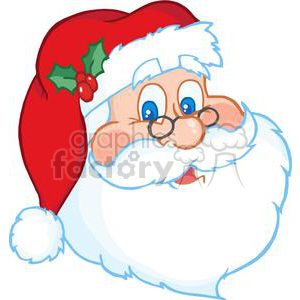 Santa Claus Head clipart. Commercial use image # 381388
