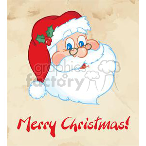 3750-Merry-Christmas-Greeting-With-Santa-Claus clipart. Royalty-free image # 381393