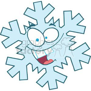 3777-Cartoon-Snowflake clipart. Royalty-free image # 381428