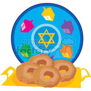 Holidays Jewish cartoon Hanukkah Chanukkah doughnut Star of David