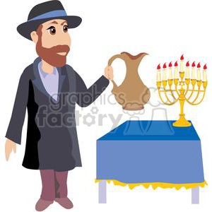 cartoon Rabbi clipart. Royalty-free image # 381484