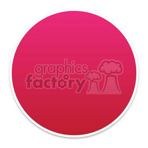 round red button clipart. Commercial use image # 381608