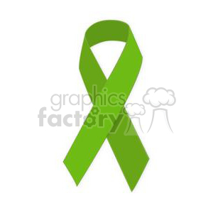 green support ribbon clipart. Royalty-free image # 381628