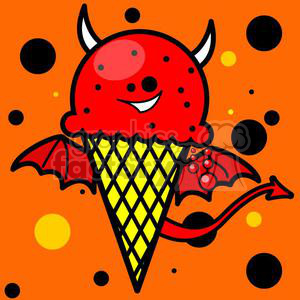 ice+cream snacks food cone cartoon funny fun yum yummy dessert devil evil nightmare