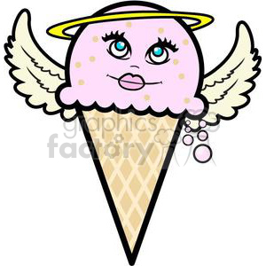 ice+cream ice+cream+cone snacks food cone cartoon funny fun yum yummy dessert angel angels heaven