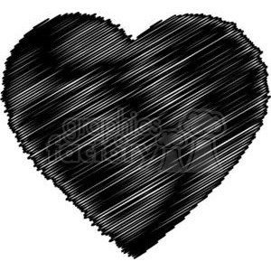 black scribbled heart clipart. Royalty-free image # 381683