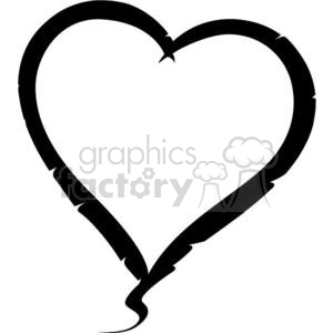 black hearts clipart. Royalty-free image # 381698