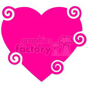 pink swirl heart clipart. Commercial use image # 381703