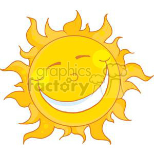 4061-Happy-Smiling-Sun-Mascot-Cartoon-Character clipart. Royalty-free image # 381965