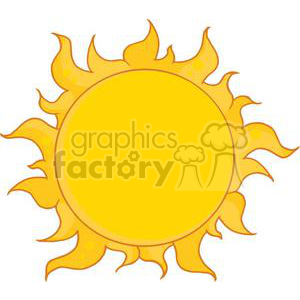 4028-Yellow-Sun-Shining clipart. Royalty-free image # 381970