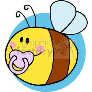 4121-Fflying-Baby-Bee-Cartoon-Character clipart. Royalty-free image # 381975