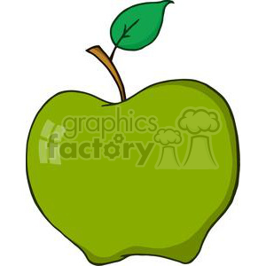 4096-Cartoon-Green-Aplle clipart. Royalty-free image # 382000
