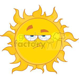 4054-Lowering-Sun-Mascot-Cartoon-Character clipart. Commercial use image # 382005