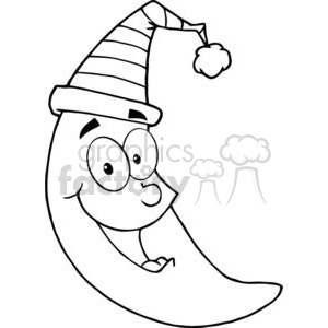 4073-Happy-Moon-Mascot-Cartoon-Character clipart. Royalty-free image # 382020