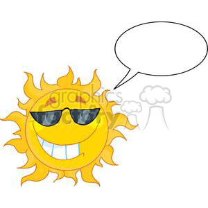 cool sun character clipart. Royalty-free icon # 382025