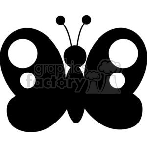 4127-Black-Butterfly-Silhouette clipart. Royalty-free image # 382040