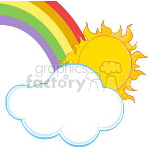 sun and rainbow background. Royalty-free background # 382050