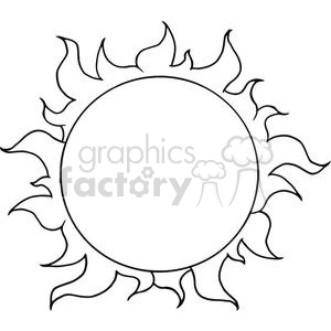 4027-Yellow-Sun-Shining clipart. Royalty-free image # 382060