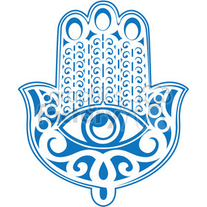 blue Hand of Fatima symbol clipart. Commercial use image # 384789