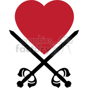 sword and heart 004 clipart. Royalty-free image # 384799