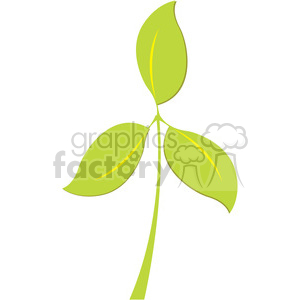 three leafs clipart. Royalty-free image # 384829