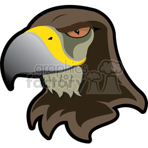 hawk mascot clipart. Commercial use image # 384849