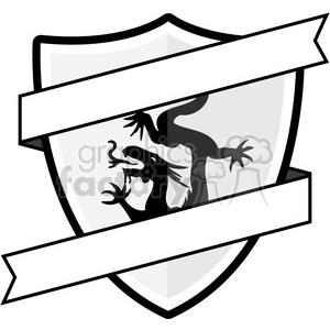 shield with dragon emblem  clipart. Royalty-free image # 384859