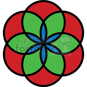 flower symbol 002 clipart. Royalty-free image # 384889