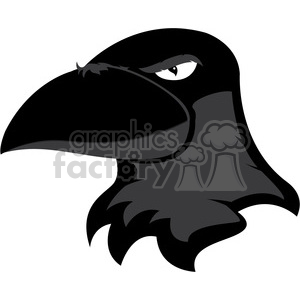 raven mascot clipart. Commercial use image # 384899